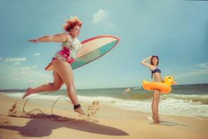 correre in spiaggia
